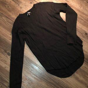 Hi-low soft sweater